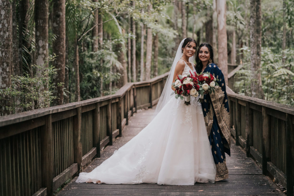 bridal party portraits buderim wedding photography